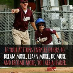 If your actions inspire someone to do more, you are a leader. http://tracklix.com/a1x4