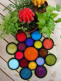 """Going Round in Circles Candle Mat  12"""" Round"""