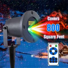 Red & Green MagicPrime Wireless Control Laser Christmas Lights, Star Projector, IP65 Waterproof for Seasonal Decorative, Valenti