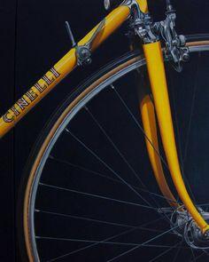 """Jaune"" Greg LeMond's First Cinelli Bike - http://capovelo.com/jaune-greg-lemonds-first-cinelli-bike/"