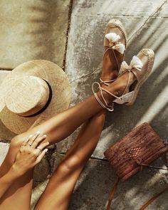 "JULIE SARIÑANA on Instagram: ""Tanned legs, happy feet! / @soludos espadrilles """