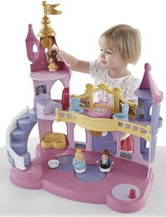 The Fisher-Price Little People Disney Princess Musical Dancing Palace is another toy that 4-year old girls will enjoy playing with.  This set comes with Disney Princess characters Belle and Cinderella, and Belle's prince.