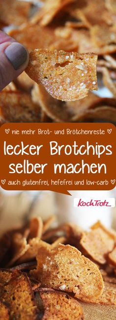 Brotchips selber machen auch glutenfrei You can make the most delicious bread chips yourself! Also gluten free! it Yourself free carb Gluten Free Recipes, Low Carb Recipes, Easy Snacks, Food Lists, Food Design, Diy Food, Finger Foods, Food Inspiration, Feta