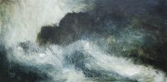 Blowing a gale  Oil on board 60x122cm