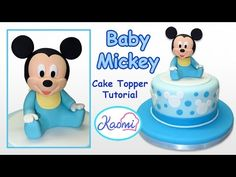 How to make Baby Mickey Mouse (Cake Topper) / Cómo hacer a Mickey Bebé p...