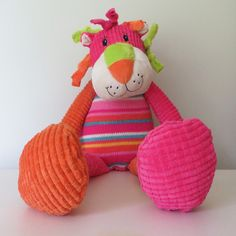 Striped Lion - Pink - French Pear Gifts
