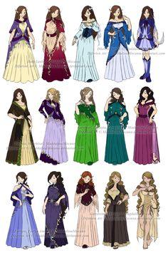 Dress n Clothes Designs: P6 - Different Women by MaddalinaMocanu.deviantart.com on @DeviantArt