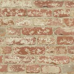 RoomMates 28.18 sq. ft. Stuccoed Red Brick Peel and Stick Wall Decor-RMK9035WP - The Home Depot