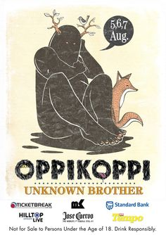 """poster designs for Oppikoppi 2011 titled """"Unknown Brother"""". Festival Posters, Africa, Studio, Concerts, Festivals, Illustration, Movie Posters, Stage, Pictures"""