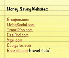 Money Saving Websites