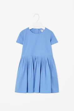Cotton dress with pleats
