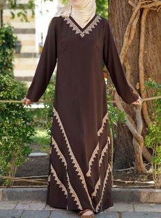 SHUKR's long dresses and abayas are the ultimate in Islamic fashion. Islamic Fashion, Muslim Fashion, Hijab Style Dress, Abaya Style, Abaya Designs, Edwardian Dress, Islamic Clothing, Mom Fashion, Fashion Outfits
