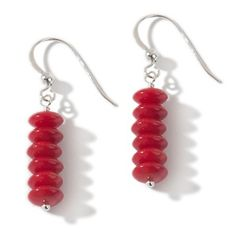 Jay King Red Sea Bamboo Coral Sterling Silver Earrings   HSN Price:$34.90   Appraised Value: $58.00