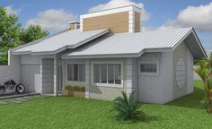 Explore 27 Modelos de Frentes de casas simples e modernas que podem ajudar você na hora de construir ou reformar sua casa.