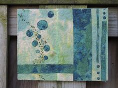 The Art Quilt Blog - This could be scaled down for a mug rug.