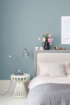 Blue grey interior paint blue and grey bedroom paint grey blue bedroom cozy grey blue bedroom . Valspar Bedroom, Bedroom Wall, Bedroom Decor, Bedroom Ideas, Uni Bedroom, Master Bedroom, Bedroom Inspiration, Color Inspiration, Bedroom Furniture
