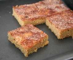Snickerdoodle Blondie Recipe   All Day I Dream About Food (use truvia instead of the brown sugar substitute. After taking it out of the oven, sprinkle truvia,cinnamon and nutmeg on the top and put it under the broiler for five minutes.)