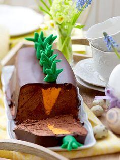 Super leckeres Mousse au Chocolat mit Osterüberraschung.