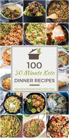 Make a delicious meal in less than 30 minutes with these quick and easy Keto dinner recipes. These recipes are perfect for busy weekdays when you are too tired to spend a long time in recipes dinner 100 30 Minute Keto Dinner Recipes Health Dinner, Keto Dinner, Diet Food To Lose Weight, Weight Loss, Losing Weight, Cena Keto, Comida Keto, Diet Recipes, Low Carb