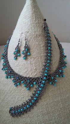 Handmade beaded bracelet and necklace