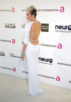 Miley Cyrus Photo - Celebs at the 21st Annual Elton John AIDS Foundation Party