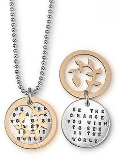Gandhi Be The Change Necklace