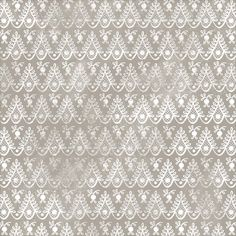 """Anna Griffin - Bat-Tastic Collection - 12""""x12"""" Ivory Cardstock - Grey Scallop"""
