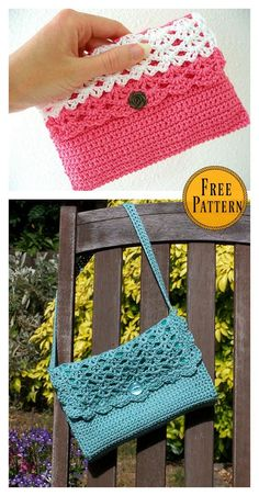 Diy Crafts - freepattern,purse-Get ready for summer with this Perfect Purse Free Crochet Pattern that will bring a bright note to any warm-weather out Purse Patterns Free, Crochet Patterns, Free Pattern, Crochet Clutch Pattern, Crochet Clutch Bags, Wallet Pattern, Sewing Patterns, Crochet Handbags, Crochet Purses
