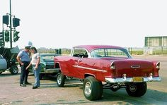 Cool 55 Chevy 2dr Hardtop. I want one!