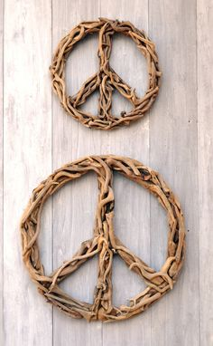 Driftwood Peace Signs