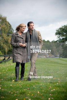 Stock Photo : Mature couple together at walk