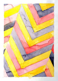 Watercolor Abstract Geometric Painting LaBerge