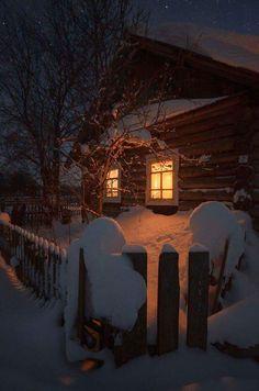 Wintertime. ..Cozy...L.Loe