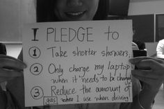 #PLEDGE We should all take actions for the climate change.