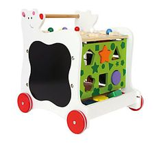 It's time for fun with learning -- and walking -- when your tyke takes the helm of this wooden baby bear walker. From Legler Toys.