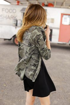Home Design & Decoration For Ideas - Get the best Design decorating Home, kitchen & Garden Street Chic, Street Style, Military Trends, Gorgeous Hair Color, Cargo Jacket, Fashion Beauty, Womens Fashion, What I Wore, I Dress