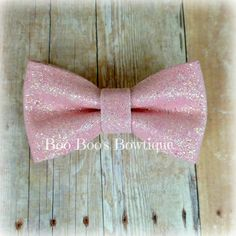 Holiday Baby Pink Hair Bow Clip for Girls, Babies, Toddler, Teens - Christmas Glitter Bow, Girls Red Bow. $4.00, via Etsy.