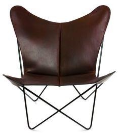 OxDenmarq Armchair Trifolium - Black Steel Frame - Leather - Cognac |  https://designonline24.nl