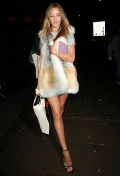 fur and sandals.