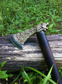 House of Steel  Customized Crafty Celts leopard axe with a high carbon steel blade.
