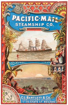Vibrant, striking image of a steamship