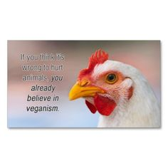 """TAVS """"Why veganism?"""" Business Cards"""