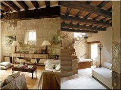 Rusztikus stílusú lakások - Rustic Elegance, Divider, Loft, Elegant, Bed, Projects, Furniture, Home Decor, Cement