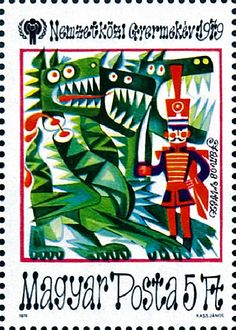 Andersen's Fairy Tales on Stamps: Hungary Postage Stamp Design, Plakat Design, Going Postal, Vintage Stamps, Vintage Artwork, Stamp Collecting, Fairy Tales, Illustrator, Ephemera