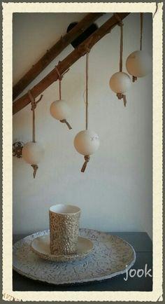 Ceramic Christmas balls. Writable