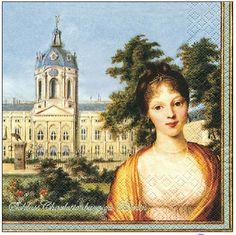 Papierservietten mit dem Bildnis der Königin Luise