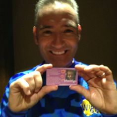Brooklyn got to meet the Wiggles before the concert, we gave Anthony a GP2C Purple Card!  www.gp2c.org/thepurplecard