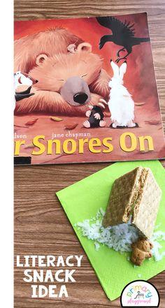 Literacy Snack Idea Hibernate + Free Printable