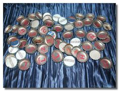 """Man did I want to win the Pepsi Challenge! We peeled back hundreds of rubber disks off of metal bottlecaps to reveal the next letter we needed to spell """"Challenge"""""""