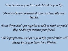 I Love My Brother Brother Quotes Sister Quotes Big Brother Quotes